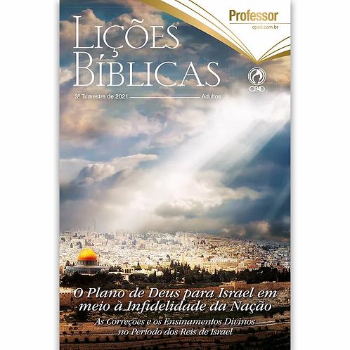 Revista Lições Bíblicas Adultos Profº 3º Tr. de 2021