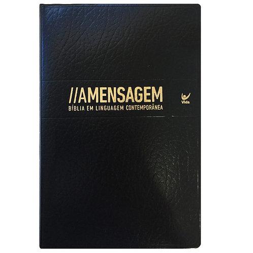 Bíblia A Mensagem - Capa LuxoPreta luxo Bíblia em linguagem contemporânea