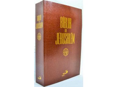 Bíblia De Jerusalém Com Apócrifos Média Capa Luxo Marrom Claro