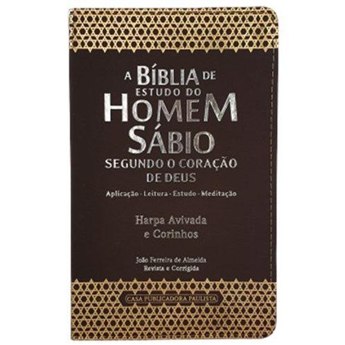 A Bíblia de Estudo do Homem Sábio | ARC | Letra Grande | Harpa Avivada e Corinho