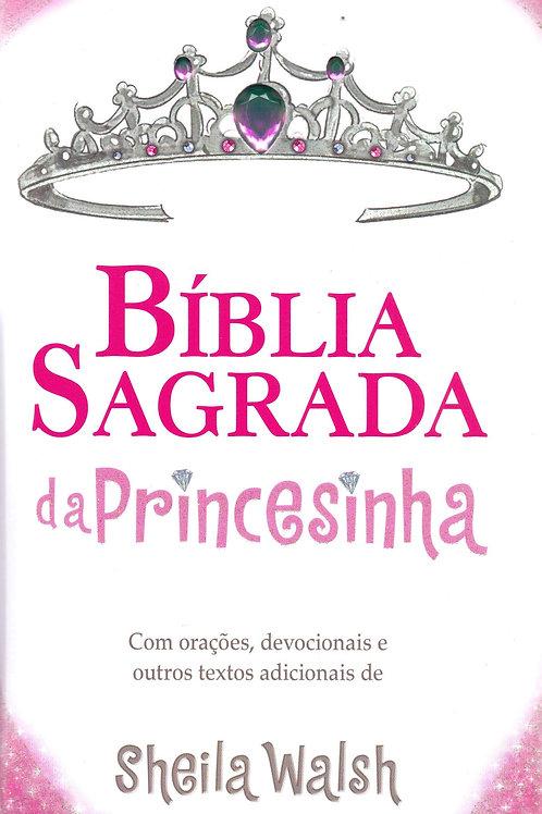 Bíblia Sagrada da Princesinha, NTLH, Capa Dura Almofada, Rosa Glitter