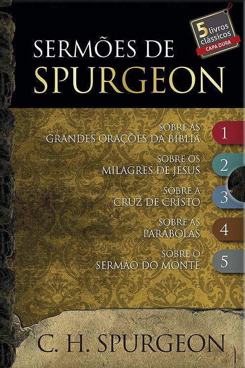 Box - Sermões de Spurgeon - 5 livros Capa dura