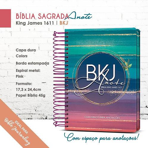 Bíblia King James Anote 1611 Bkj - Espiral Colors