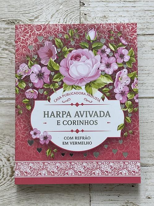 Harpa avivada e corinhos cor rosa