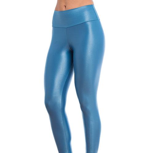 Legging Cirré Fitness Azul Marcyn