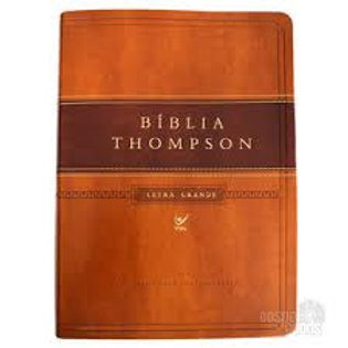 Bíblia Thompson letra grande luxo - marrom