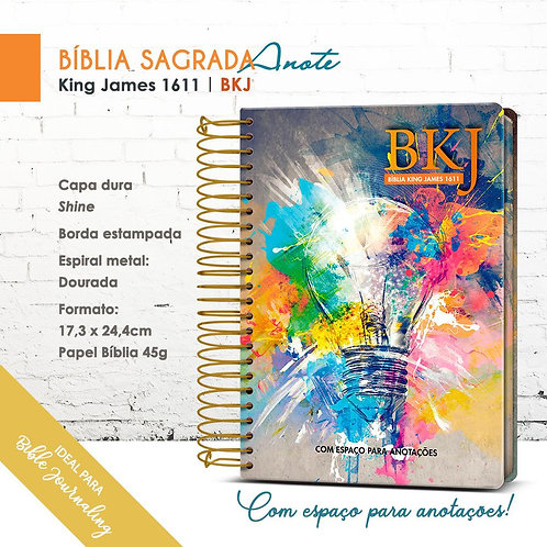 Bíblia King James Anote 1611 Bkj - Espiral -shine