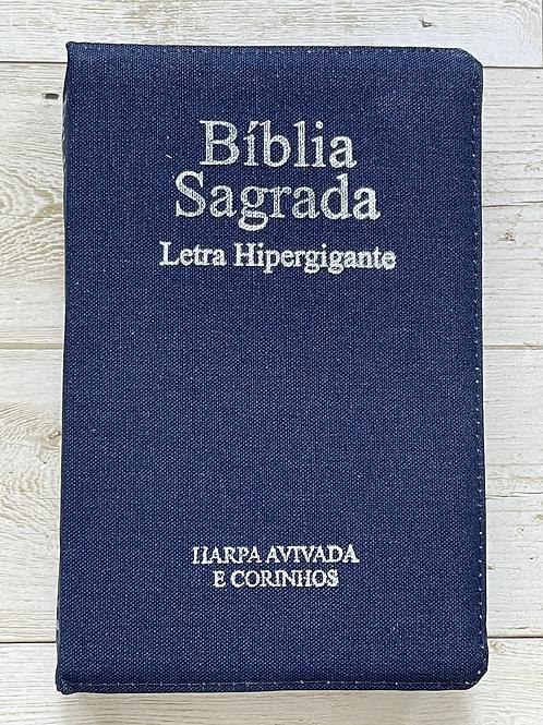 Bíblia com harpa hipergigante azul
