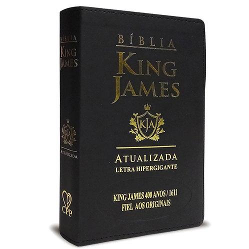 Bíblia king James atualizada 400 anos - Hiper Gigante - luxo preta