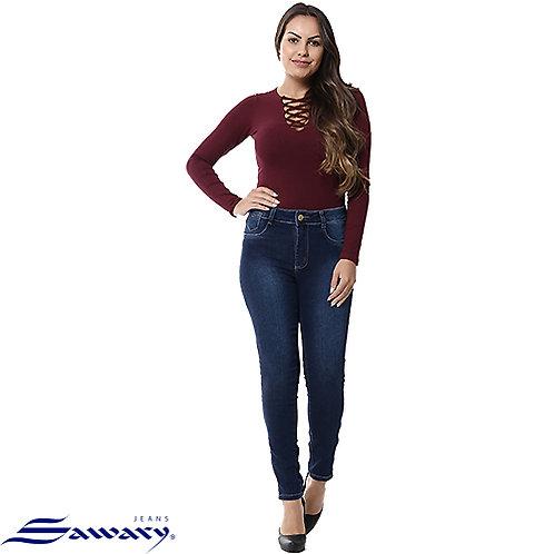 Calca Jeans Cigarrete com Ziper Sawary 255121