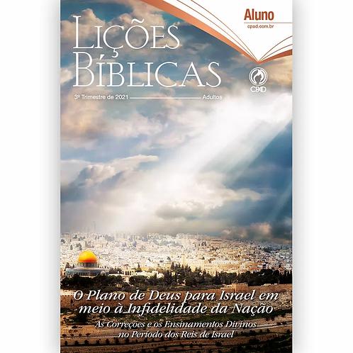 Revista Lições Bíblicas Adultos Aluno 3º Tr. 2021