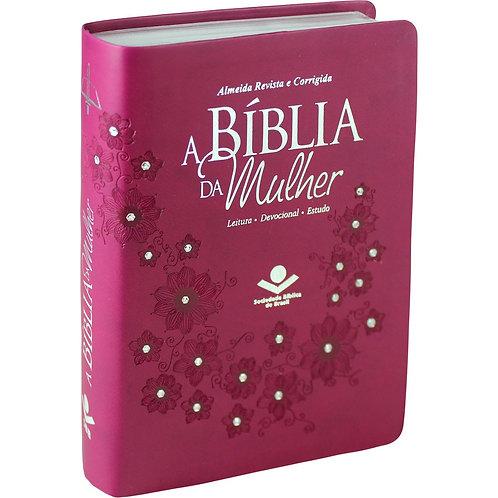BÍBLIA DA MULHER Pink  com strass- RC