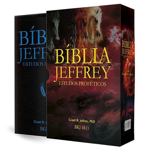 Bíblia Jeffrey de Estudos Proféticos - Luxo Azul