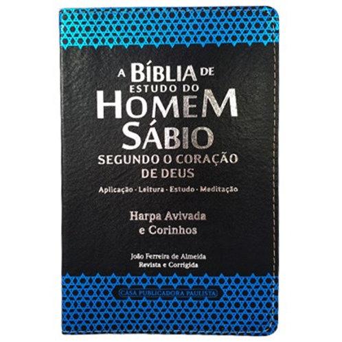 A Bíblia de Estudo do Homem Sábio | ARC | Letra Grande | Harpa Avivada