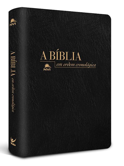 Bíblia NVI em Ordem Cronológica – capa luxo preta e negra