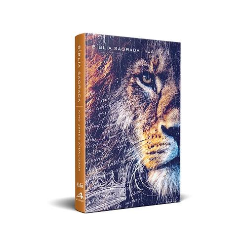 Bíblia King James Atualizada - Kja - Média Capa Dura Slim Leão De Judá - Art Gos