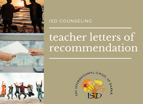 Teacher Letters of Recommendation