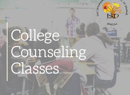 Class of 2021 College Counseling Timeline