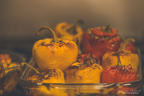 Stuffed Peppers in roasted tomato sauce