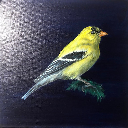 """""""Goldfinch"""" Painting"""