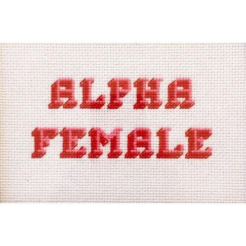 Alpha Female Cross Stitch