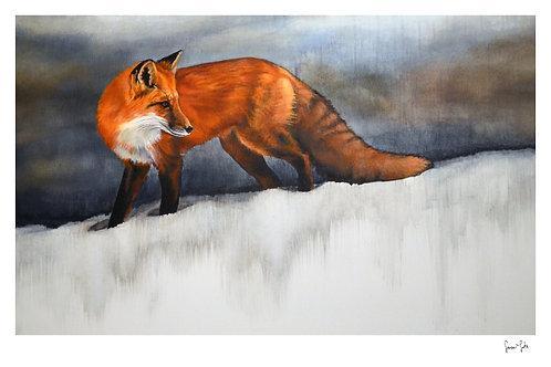 """Fox in Snow"" Print"
