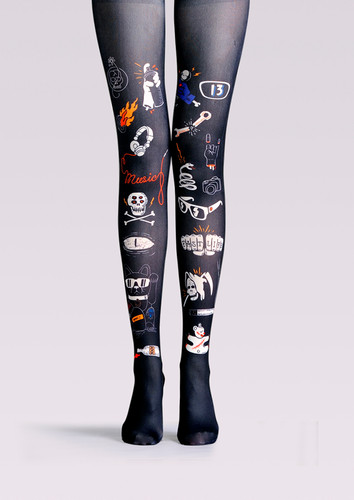 92f5e9b8f2c TheHumanMade Graphic Colourful Tights -