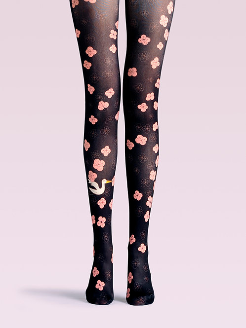 TheHumanMade graphic tights - Cherry Blossom Rain - Women's Fashion Unique Gifts Special Gift Graphic Design