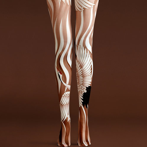 "TheHumanMade Graphic Coloured Tights - ""Ballerina"" - Women's Fashion Unique Gifts Special Graphic Womenswear"