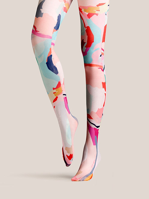 "TheHumanMade Graphic Colourful Tights - ""Colour Storm"" - Women's Fashion Unique Special Gifts Graphic Design Womenswear"