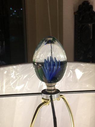 Custom glass lamp finial