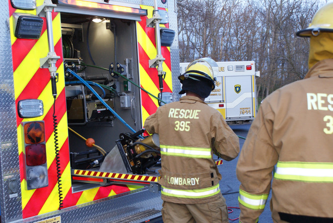 Vehicle Extrication Drill at Lincroft First Aid