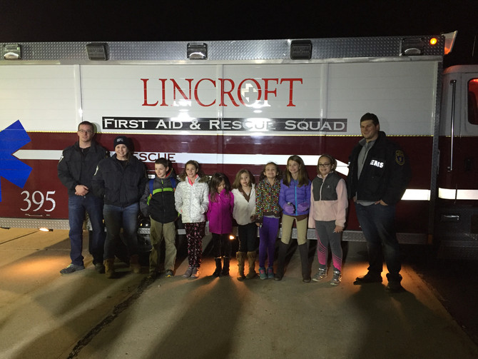 Girl Scouts visit Lincroft First Aid