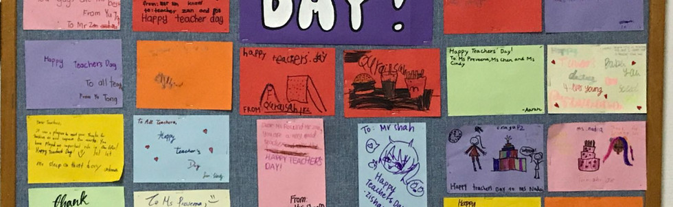 Teachers' Day Letters from students