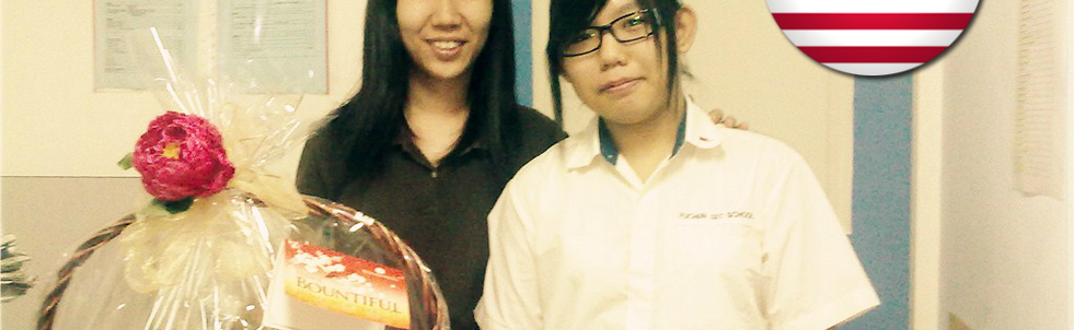 MS Chua with Student from Malaysia
