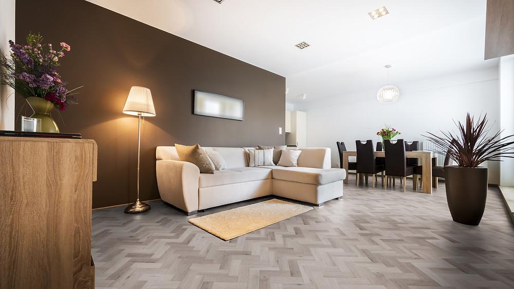 Grey Parquet Flooring Neobo