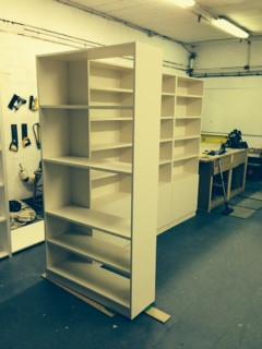Bespoke lounge shelving unit