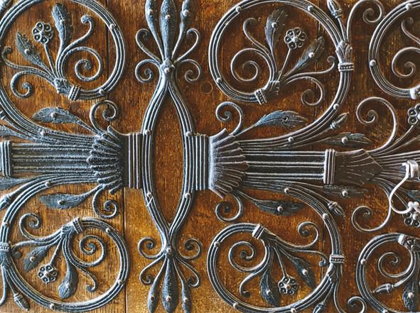 Ornate ironwork