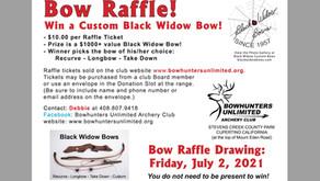 Black Widow custom bow raffle! $10/entry