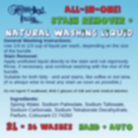 HH Washing Liquid Instructions plakkers