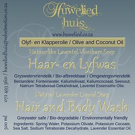 HH Haar- en Lyfwas (500ml) Laventel plak