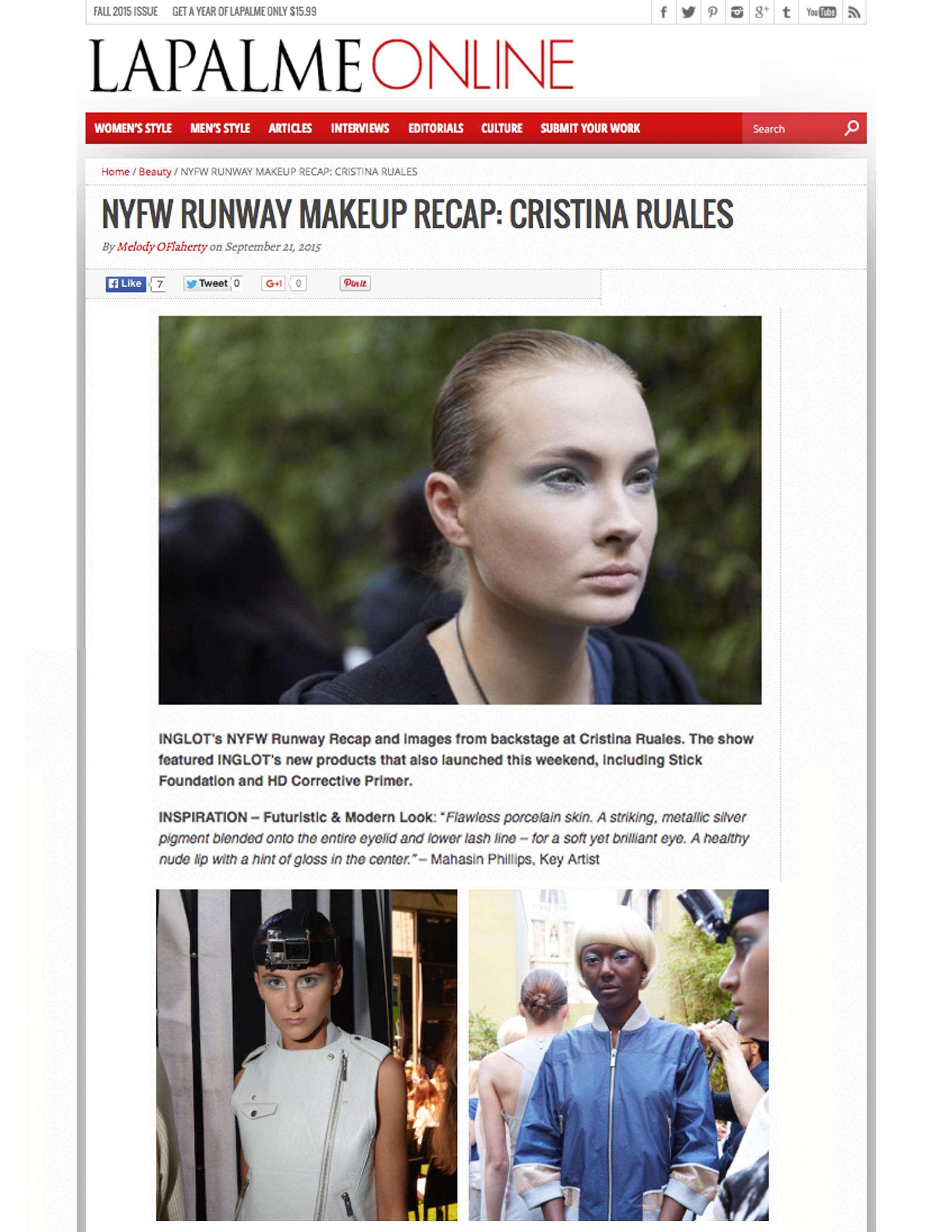 Lapalme Magazine: NYFW Makeup