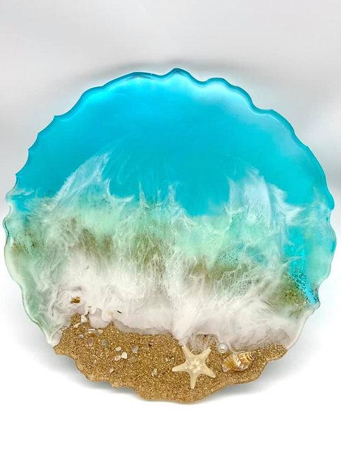 Beach Geode Resin Tray