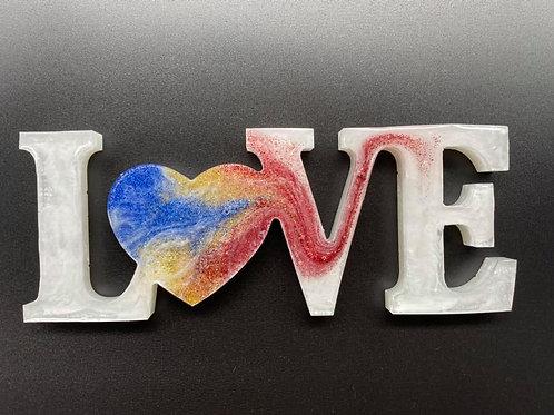 """Love"" - resin"