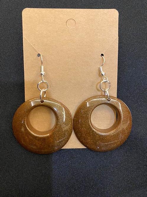 Coffee Brown Resin Earrings