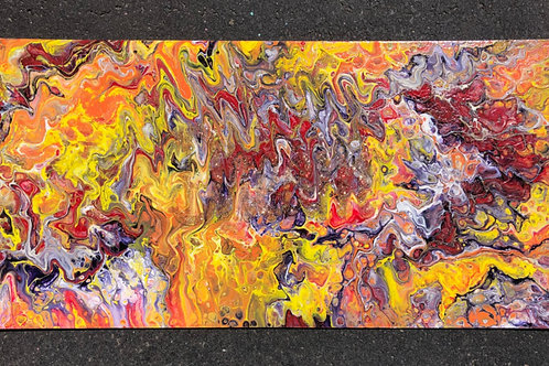 """Wild Dreams"" - 11"" x 23"" acrylic on masonite"