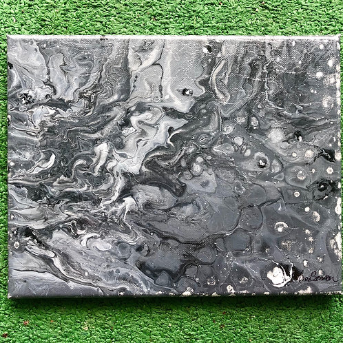 """SOLD!! """"Gray Matter"""" - 8"""" x 10"""" acrylic on canvas"""