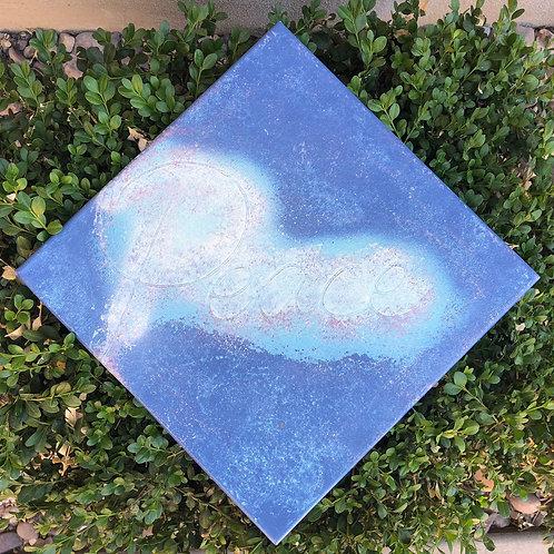 """""""Peace"""" - 12"""" x 12"""" spray paint on canvas"""
