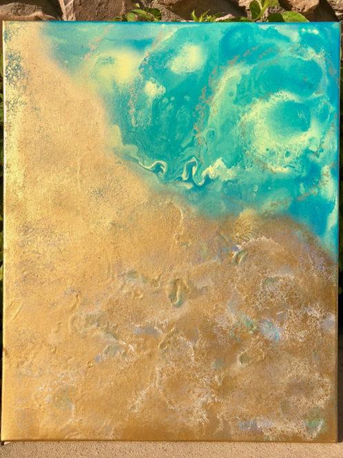 "SOLD!!  ""Esperance"" - 16"" x 20"" spray paint on canvas"