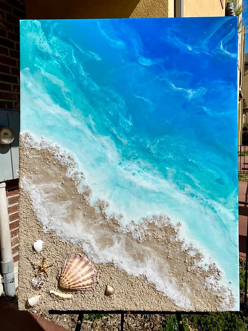 "SOLD. ""Shells on the Beach"""